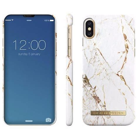 iDeal Of Sweden iPhone X Fashion Case Carrara Gold Marble