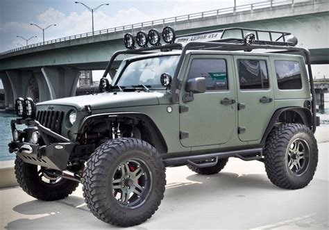 Military Green Jeep Wrangler by CEC Wheels | HiConsumption