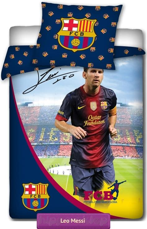 Official Leo Messi bedding FC Barcelona in club color & sign