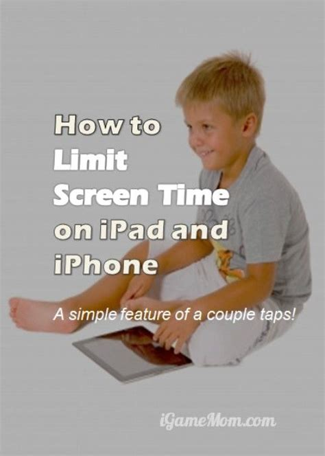 How to Set Screen Time Limit on iPad and iPhone | Kids
