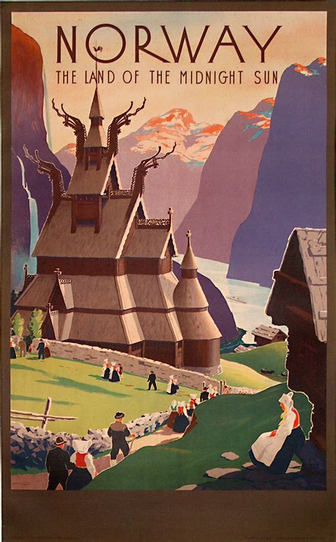 Original vintage poster: Norway - the land of the midnight