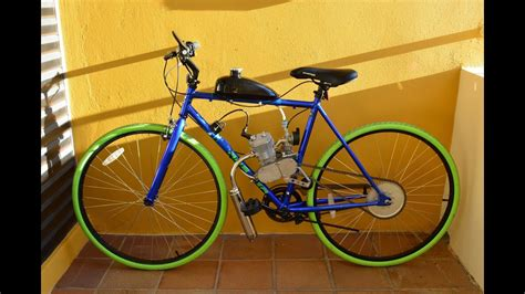 Men's Blue Thruster 700C Fixie Bicycle with 66/80cc