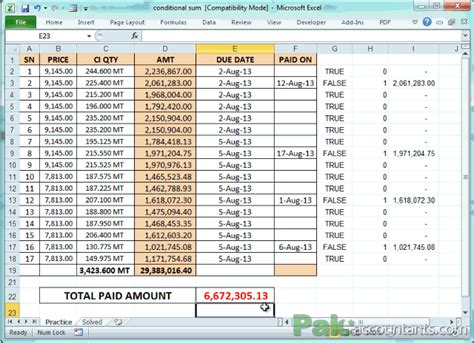 Conditional SUM with Excel SUMPRODUCT function - Intro