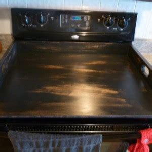 Distressed Black Stove Top Cover | aftcra