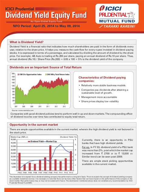 ICICI Prudential Dividend Yield Equity Fund - One Pager