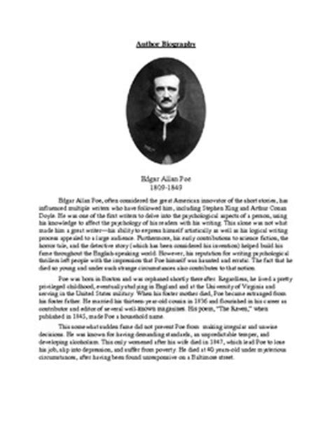 """Poe's """"A Tell-Tale Heart"""" -- Teaching Unreliable Narrator"""