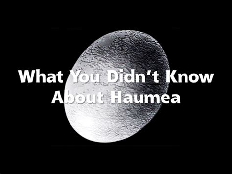 What You Didn't Know About Haumea - YouTube