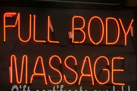 Policing massage parlors: After relaxed rules