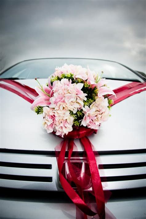 Wedding car decorated with flowers - Free Stock Photo by