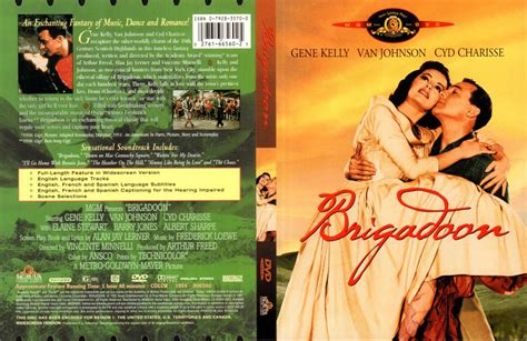 BRIGADOON (1954) R1 DVD COVER & LABEL - DVDcover