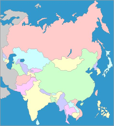 Map of Asia - Asia is not only the largest continent but