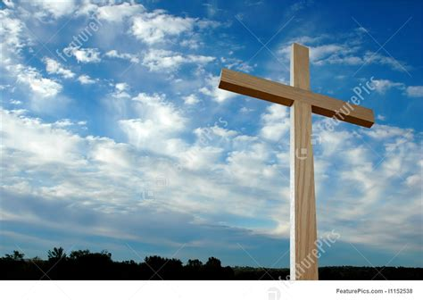 Large Cross Over Sky With Clouds Picture