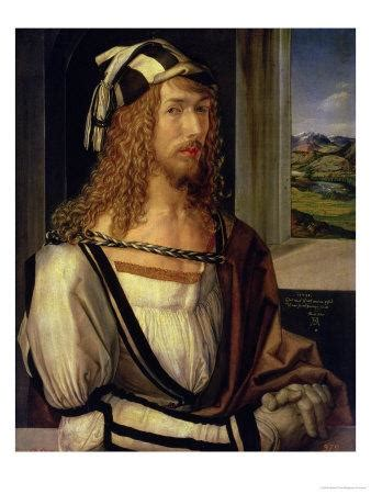 Self Portrait with Gloves, 1498 Giclee Print by Albrecht
