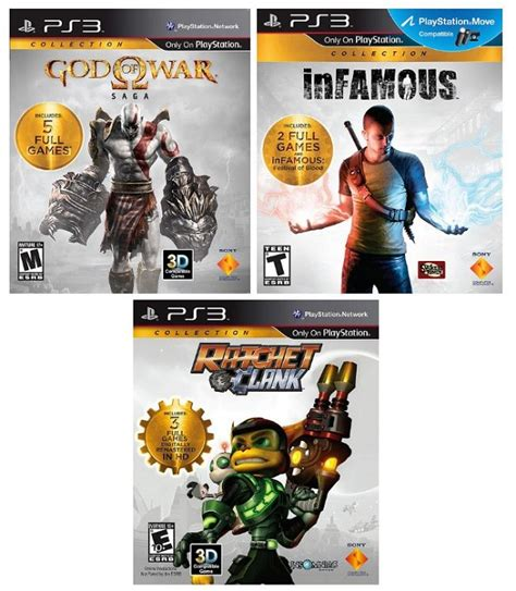God Of War, inFAMOUS, And Ratchet & Clank Collections