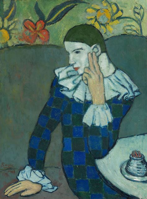 Seated Harlequin   Pablo Picasso   60
