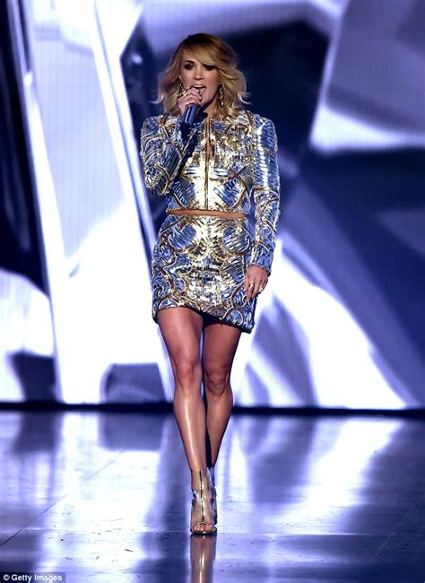 Carrie Underwood takes to the stage at the ACM Awards