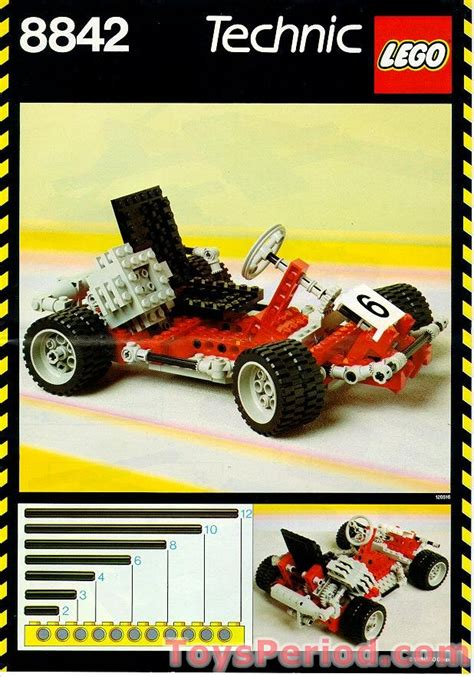 LEGO 8842 Go-Kart Set Parts Inventory and Instructions