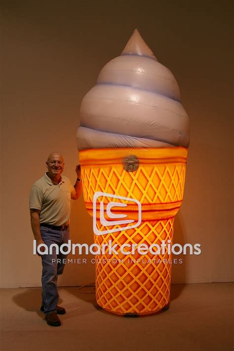 Giant Inflatable Ice Cream Cone with Light Up Feature