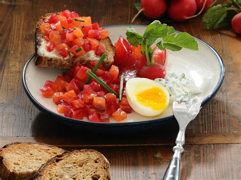 Beet Cured Salmon, Perfect Soft Boiled Eggs & Chive Crème