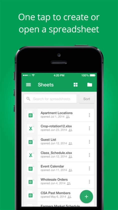 Google Sheets for iPhone - Download