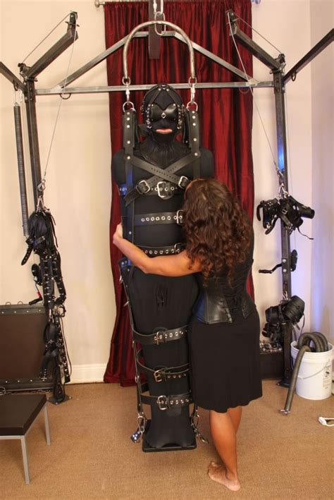 The suspension frame in action at the dungeon of Ms Troy